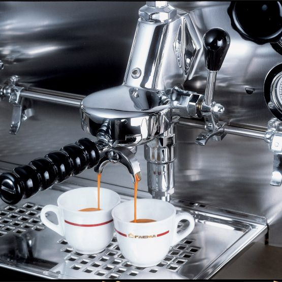E61 delivering coffee